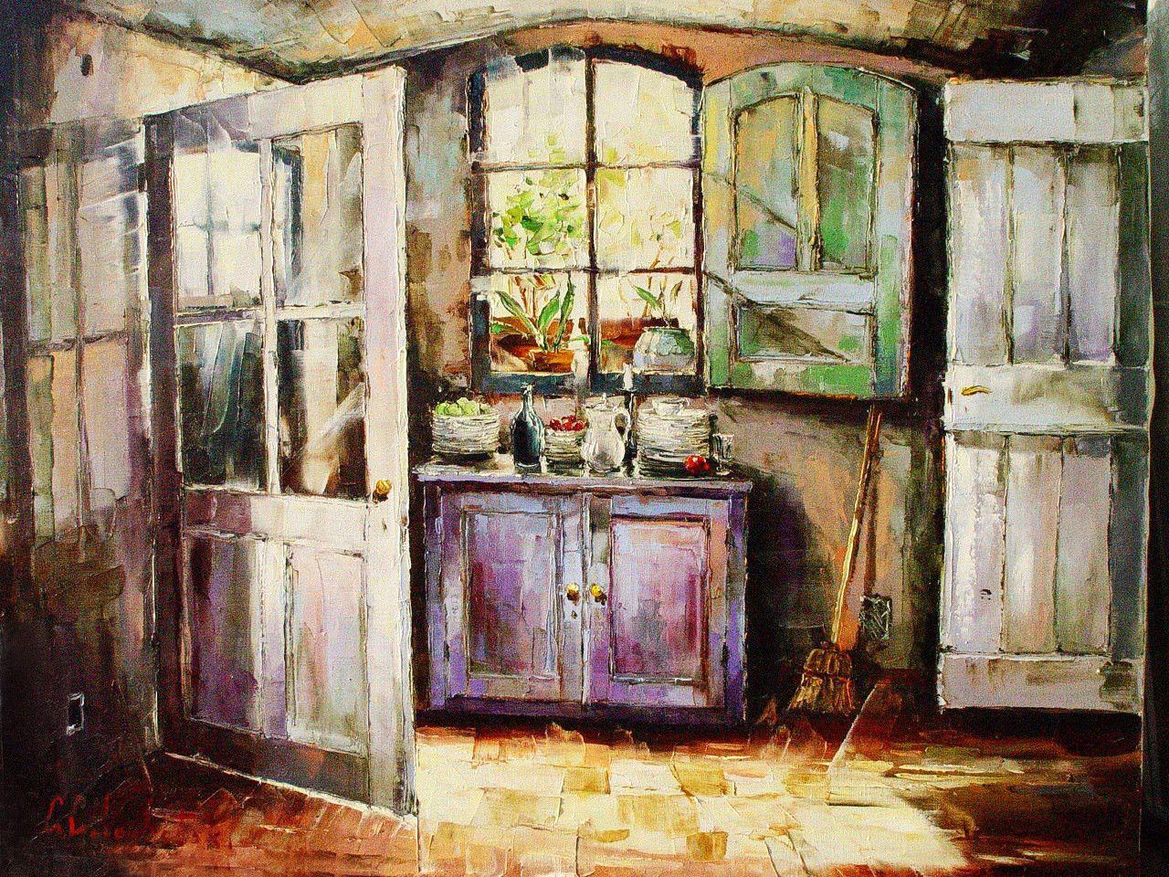 Картинки по запросу paintings of country houses russian