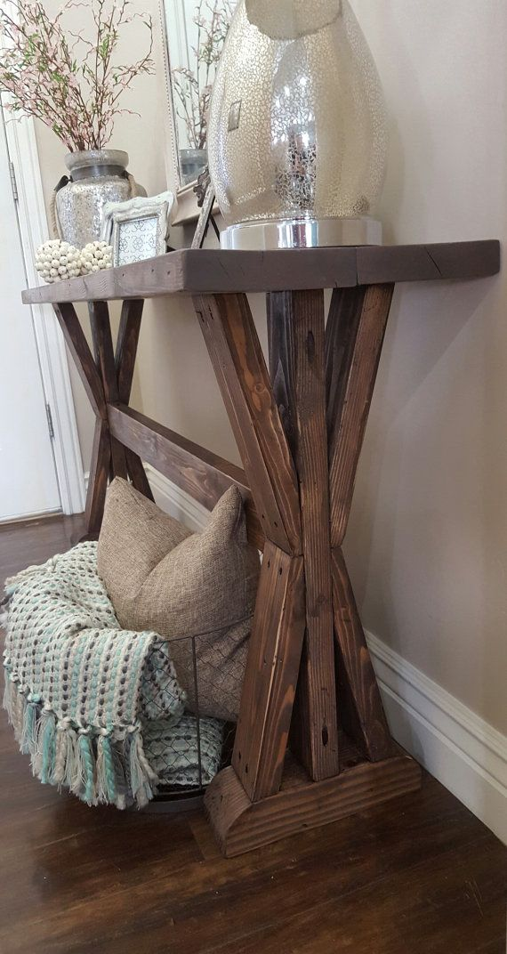 Rustic farmhouse entryway table by modernrefinement on Table entree design