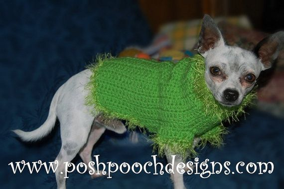 Christmas Grinch Dog Sweater Grinch Dog by poshpoochdesigns, $20.99 ...