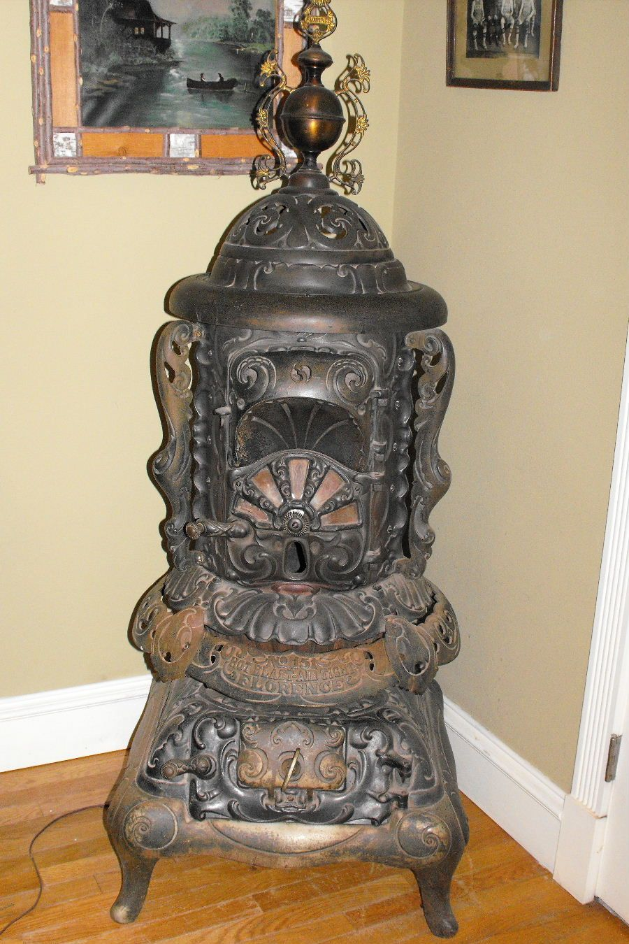 Iron Pot Bellie Wood Stove Cooking