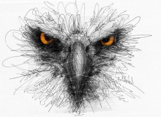 Scribble Pen Drawing : Back to basics pen scribble art hare rebeccaevans create