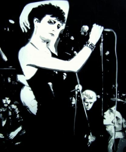 Siouxsie and the banshees - a canvas by Marcus Thorpe