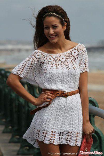 Платье - туника крючком. Обсуждение на LiveInternet - Российский Сервис Онлайн-Дневников