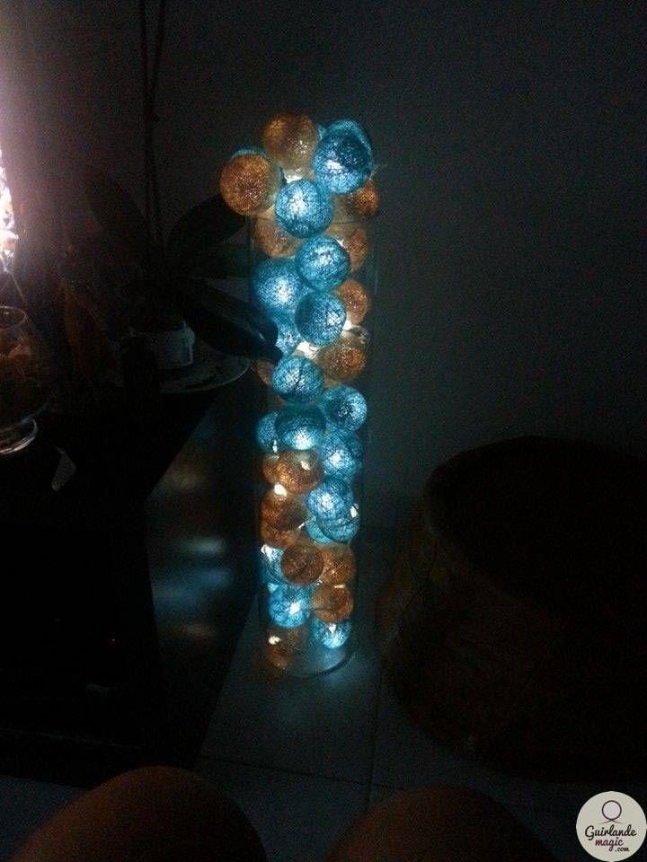 Guirlande lumineuse dans un vase Decorating ideas