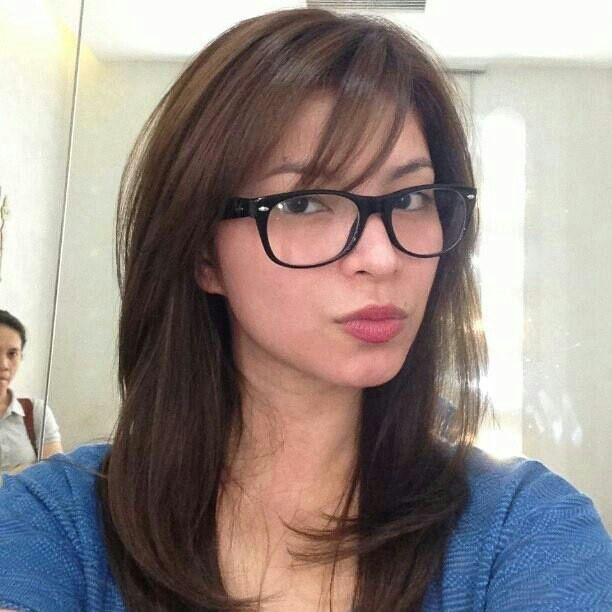 Angel Locsin Bangs And Glasses Hairstyles With Glasses Hair Styles