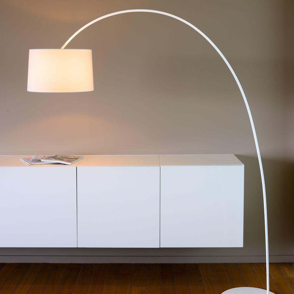 Bogen Stehleuchte Paxi In Weiss E27 Stehlampe Wohnzimmer