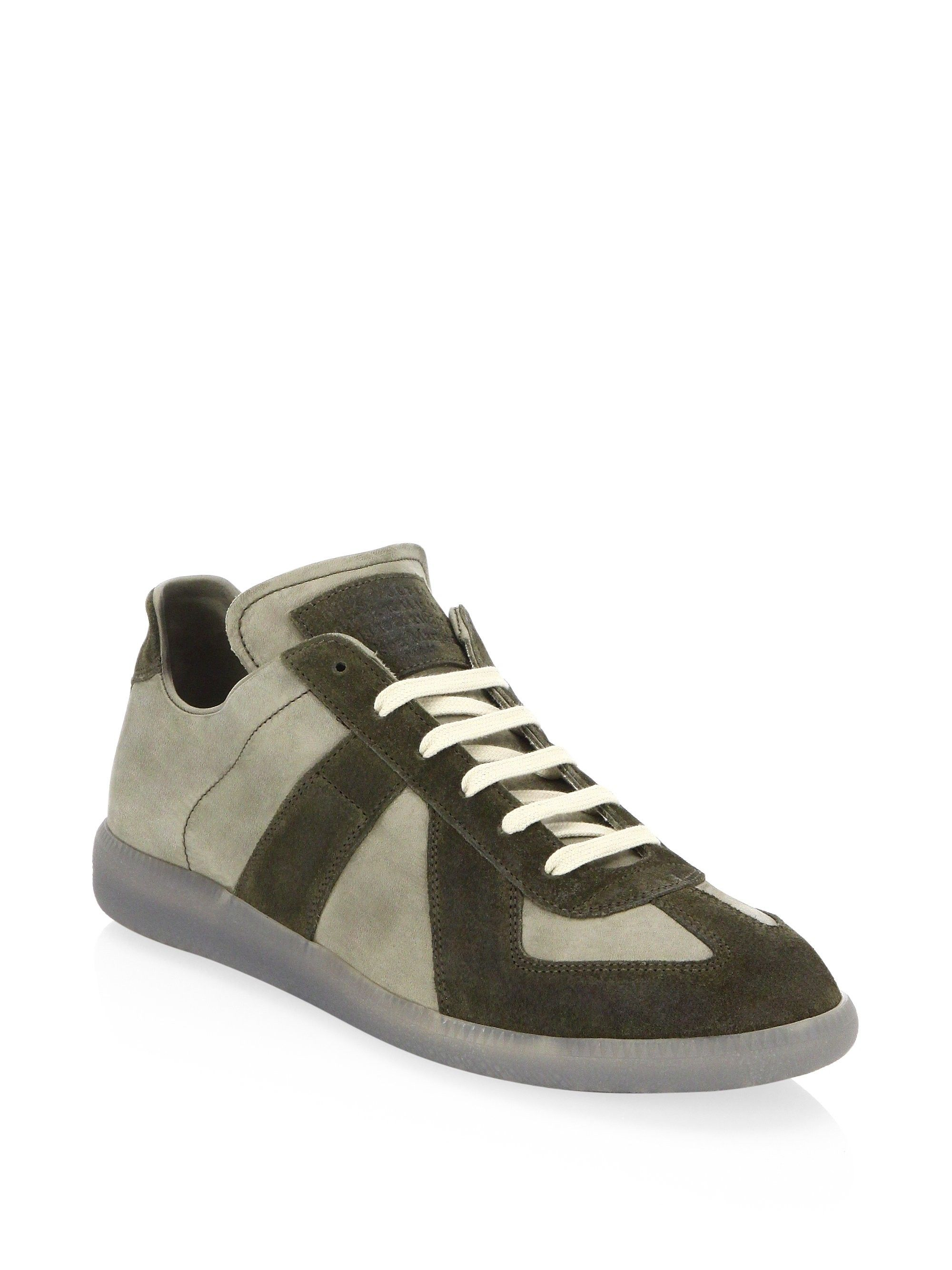 Maison Margiela Replica Low Top Sneakers Olive Green 42 (9