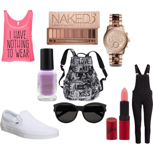 casual by millie-5sos on Polyvore featuring H&M, Vans, Victoria's Secret, Michael Kors, Yves Saint Laurent, Urban Decay, Rimmel and Barry M