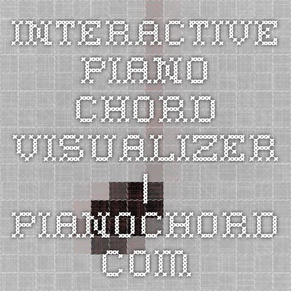 Interactive Piano Chord Visualizer | PianoChord com | Life Hacks