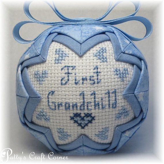 Quilted Ornament - First Grandchild - Grandson Ornament