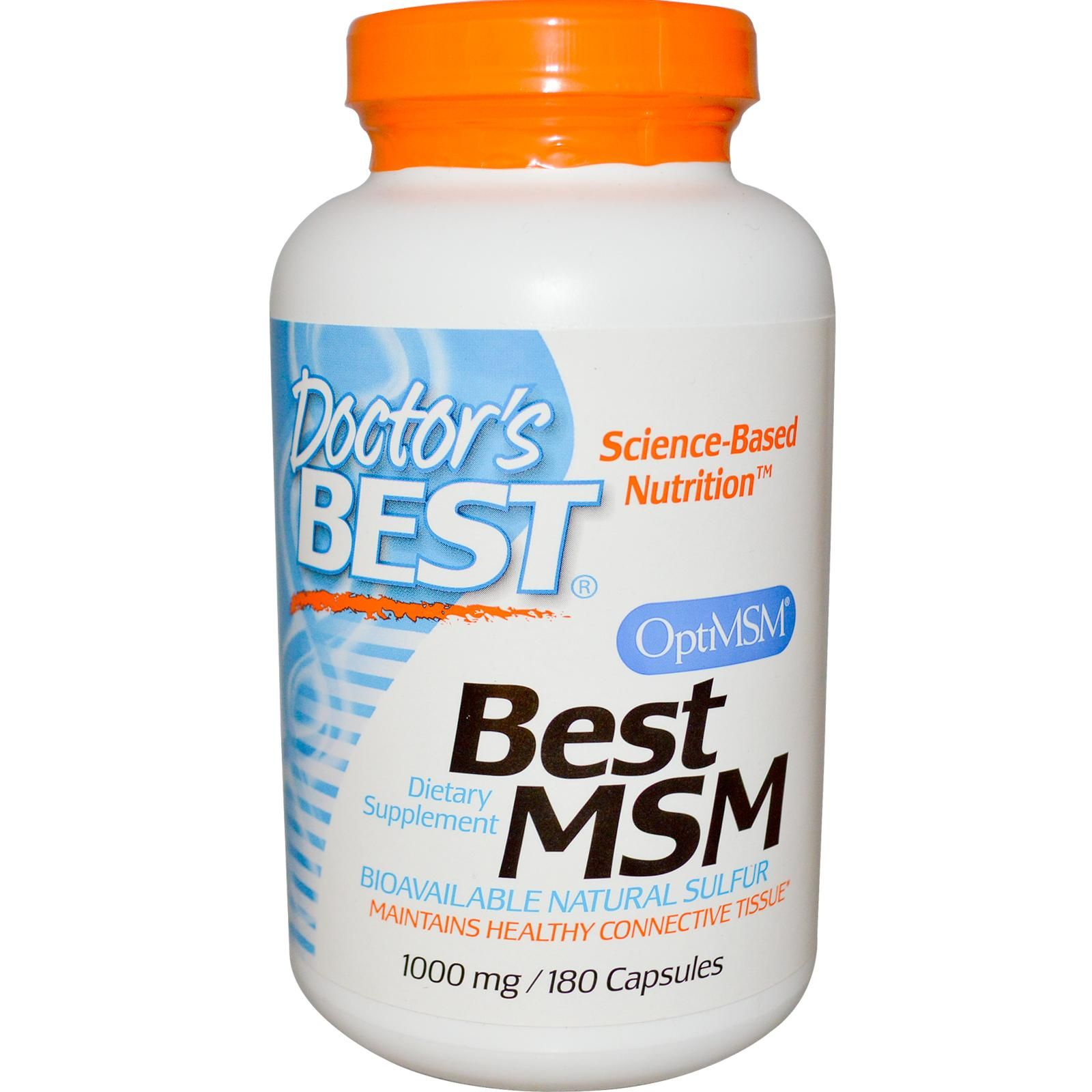 Doctors best msm with optimsm 1000 mg 180 capsules