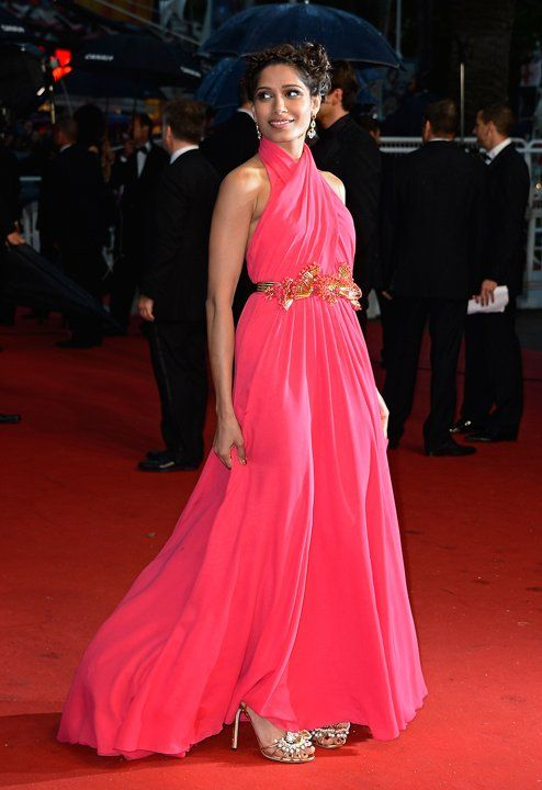 Freida Pinto in Gucci at the 66th Annual Cannes Film Festival. 13 Hollywood and Fashion Style Stars - Best Dressed 5/16/2013 http://toyastales.blogspot.com/2013/05/13-hollywood-and-fashion-style-stars.html