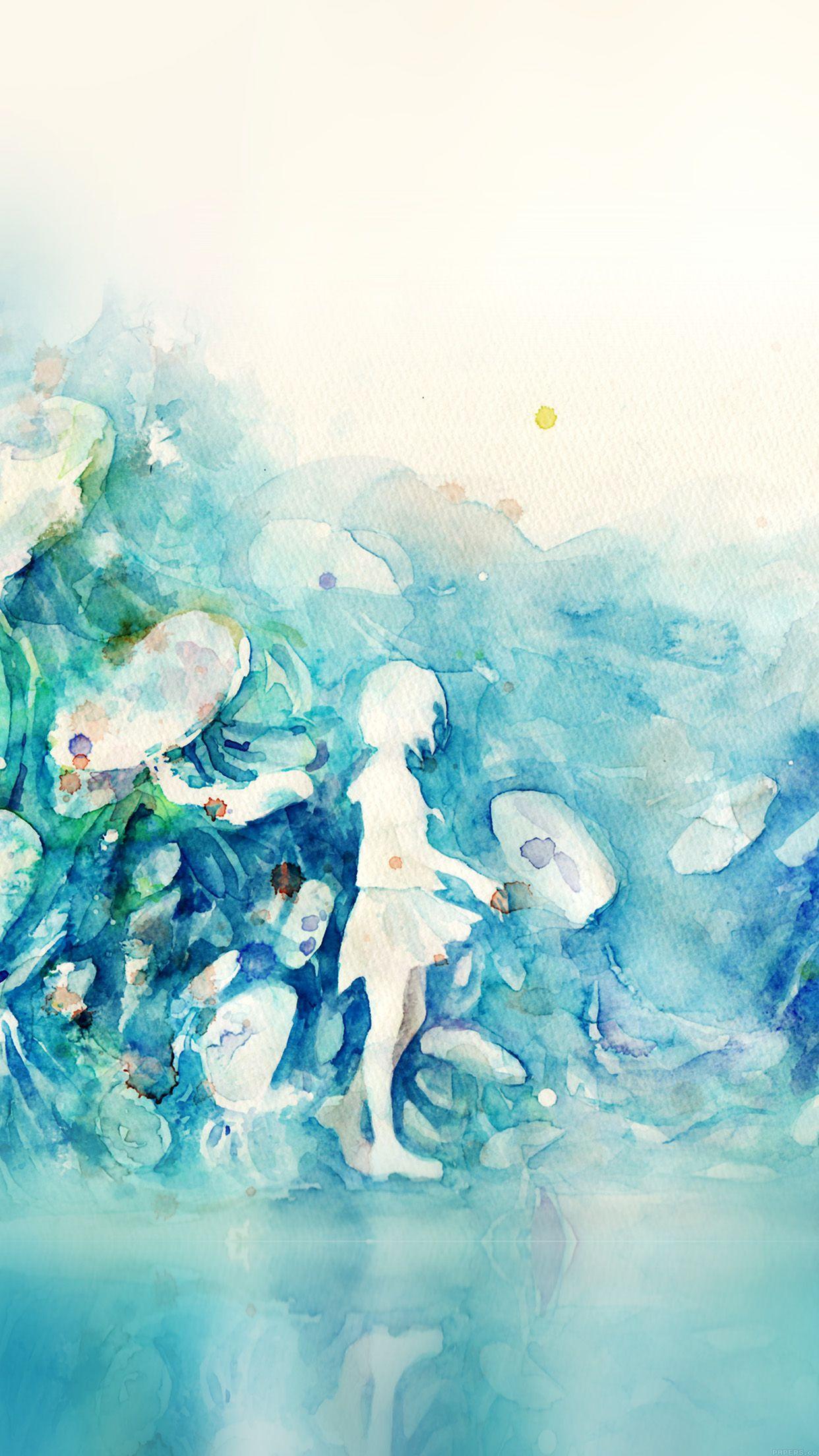 Ag06 Kanehiko Fantasy Illust Watercolor Art Watercolor Wallpaper