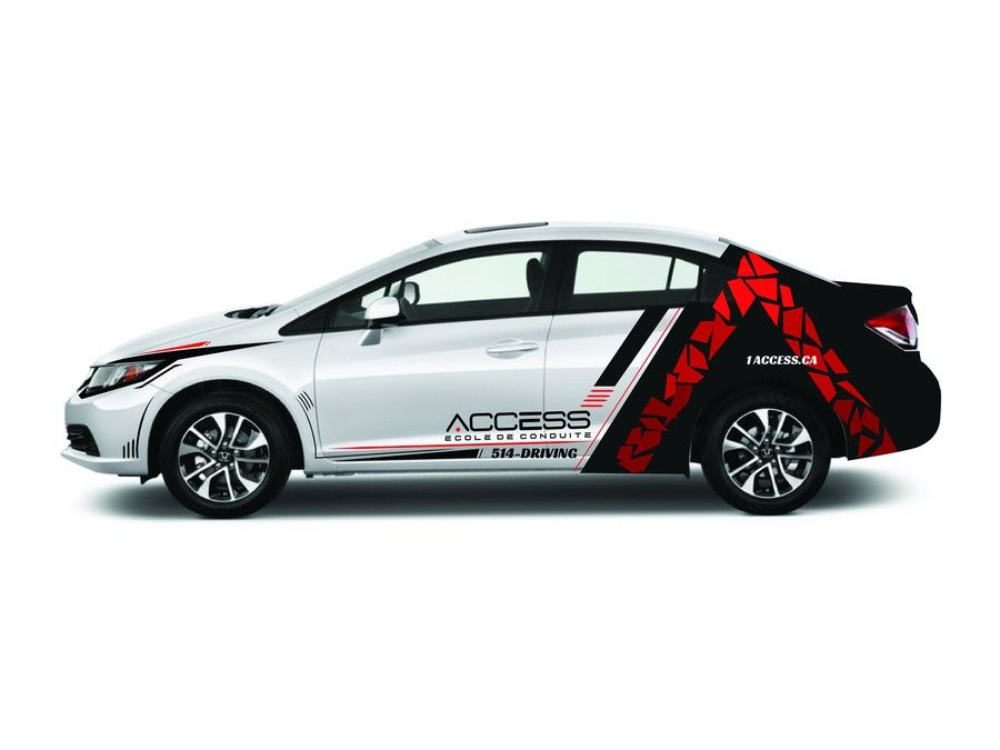 Car Vinyl Design For Access Driving School By Anthony Halim 参考 - Vinyl designs for cars