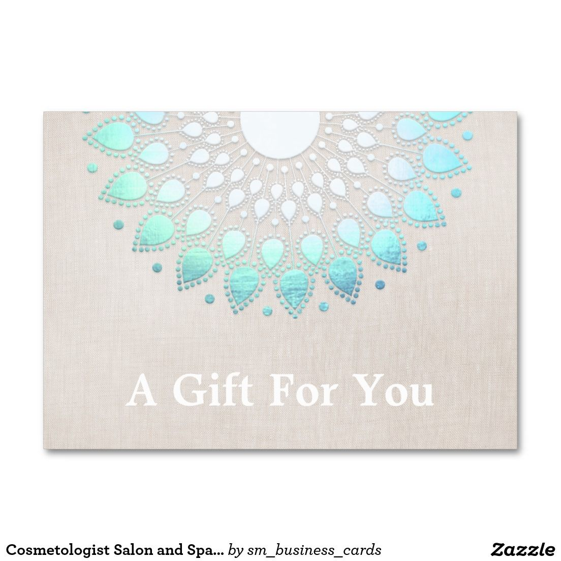 Cosmetologist Salon and Spa Gift Card | Spa gifts, Spa and ...