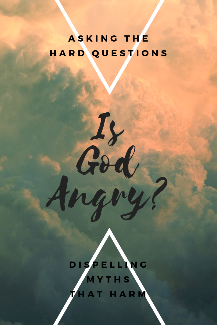 Is God Angry: Dispelling The Myths Is God Angry? The myth of an angry vengeful God has caused countless harm throughout the years. But we can reclaim our relationship with God from abuse and corruption and rediscover the joy of a healthy relationship with the divine.