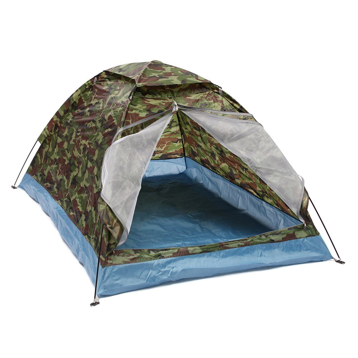 ==> [Free Shipping] Buy Best Outdoor 200140110cm Oxford cloth PU waterproof coating 4 seasons 2 people single layer Camouflage camping hiking tent Online with LOWEST Price | 32783151776