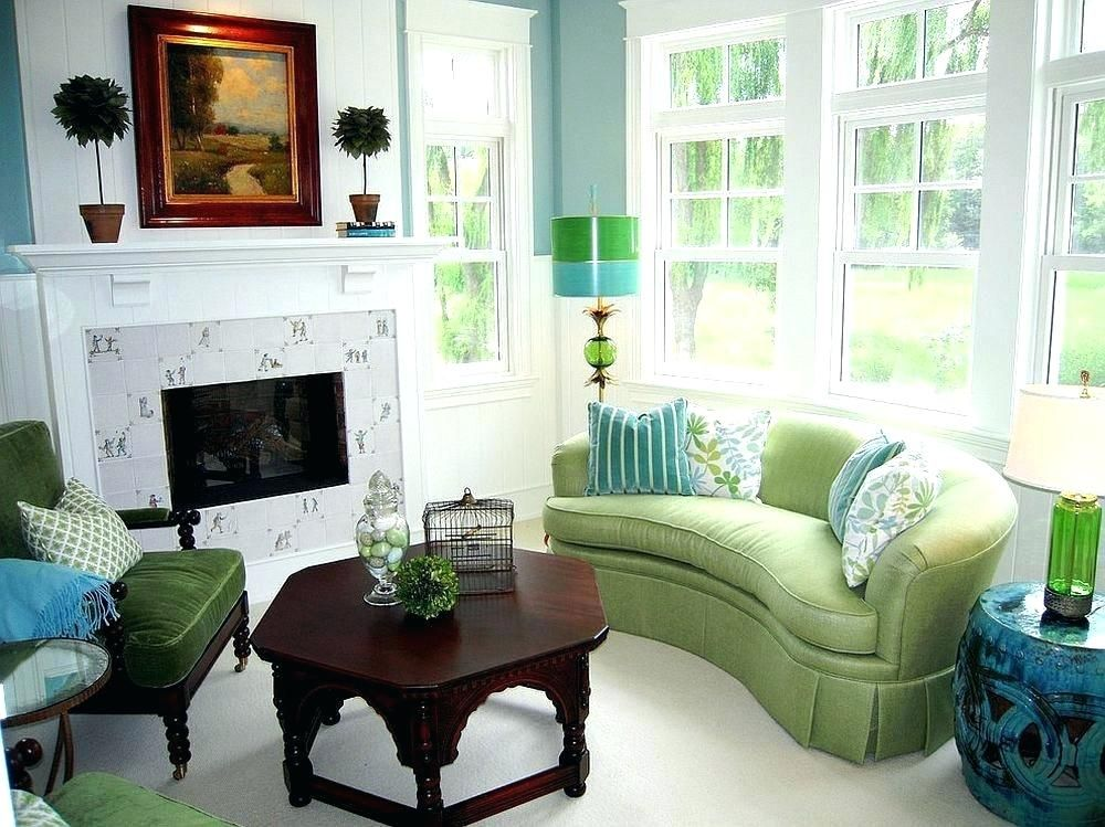 10+ Amazing Teal And Green Living Room