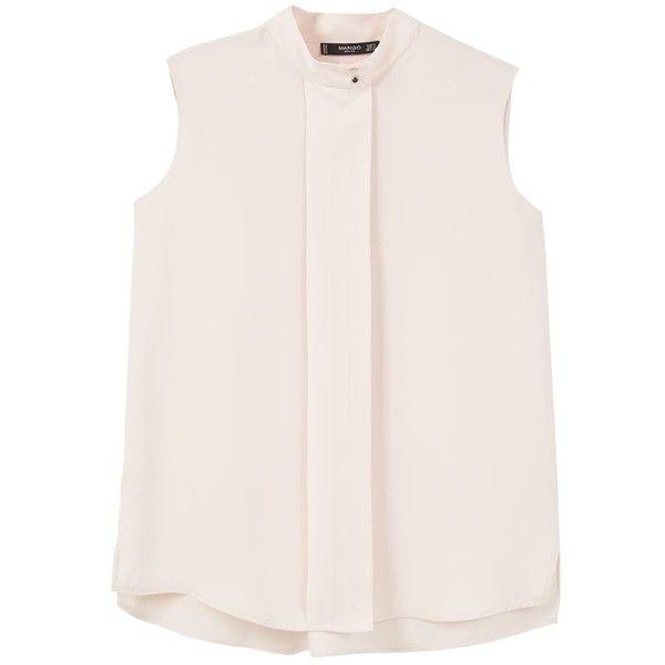 Mango Sleeveless Flowy Blouse , Pastel Pink ($37) ❤ liked on ...