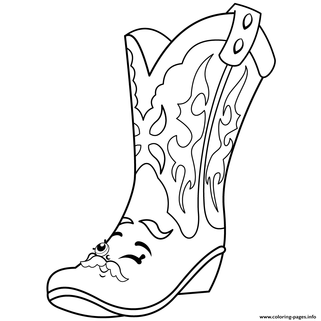 Print Cool Betty Boot Shopkins Season 2 Coloring Pages