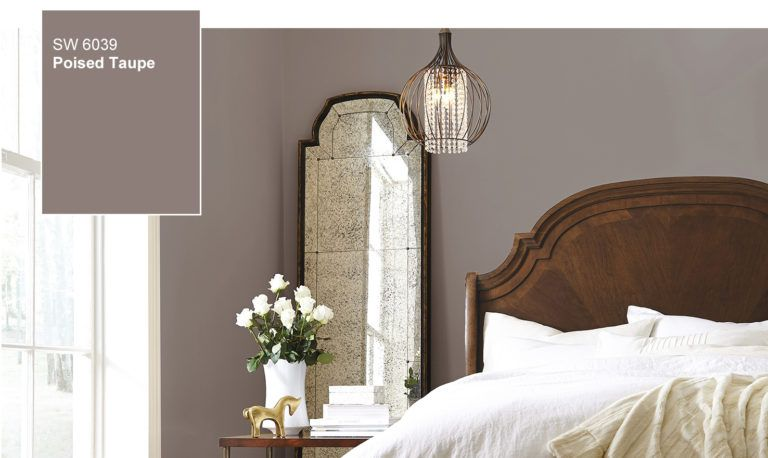 poisedtaupe2017coloroftheyear  bedroom colors home