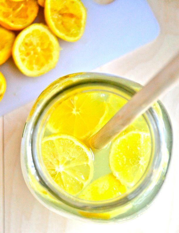 Fresh Summertime Lemonade:  Makes 4-6 glasses