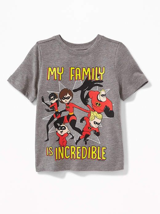 1693ff28 Old Navy Disney/Pixar© The Incredibles My Family Is Incredible Tee for Toddler  Boys