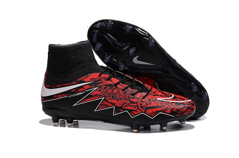 8a27dbb94f6 Nike Hypervenom Phantom II FG Black Red Adidas Football