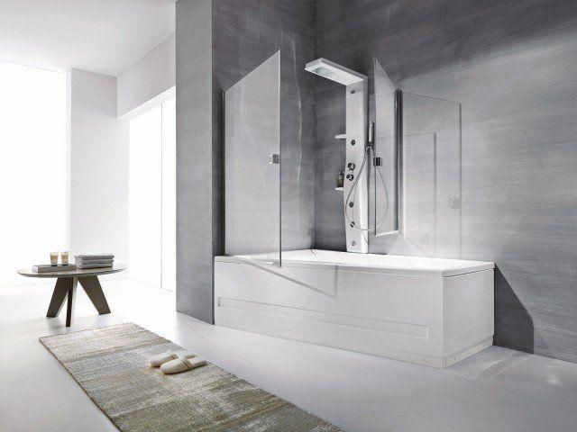 La doccia nella vasca aggiungendo un pannello Vasca da