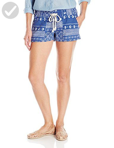 697664a455 Roxy Juniors Oceanside Short, Deep Ocean Combo/Blue Print, Large - All  about women (*Amazon Partner-Link)