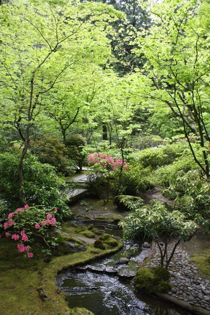 Portland_japanese_garden_waterfalljpg waterfalls Pinterest - Cascadas En Jardines