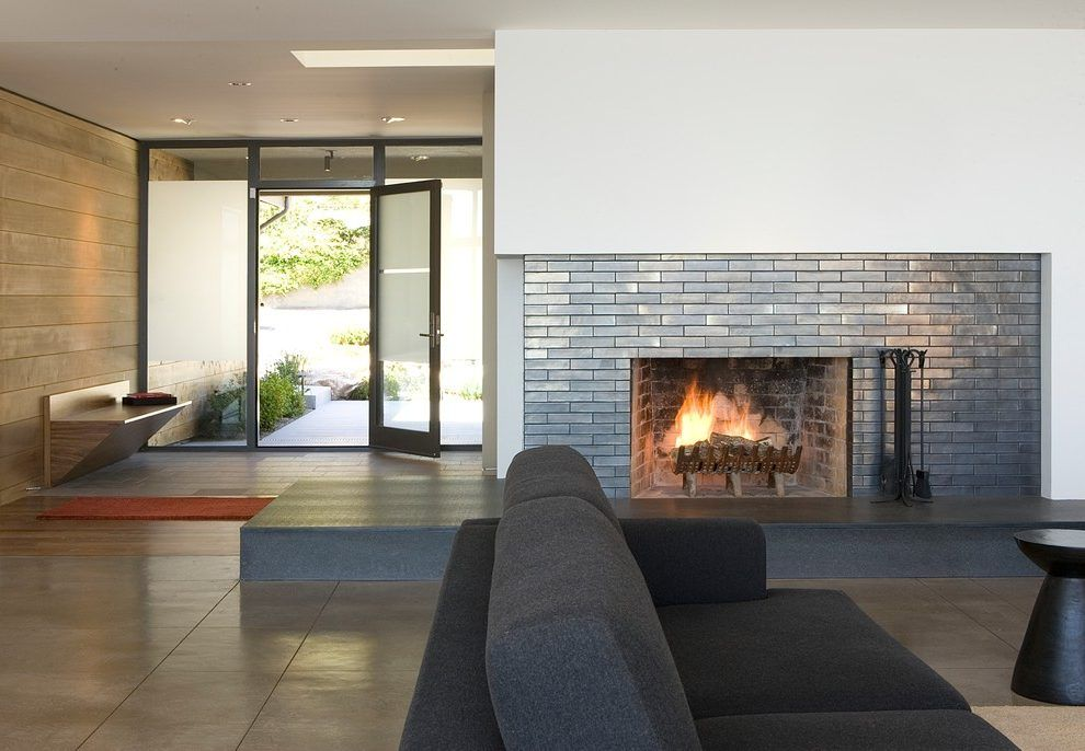 Heath Ceramic Tile Entry Contemporary With Radiant Heat San Francisco Specialty Contractors Home Door Design Fireplace Tile Fireplace Surrounds