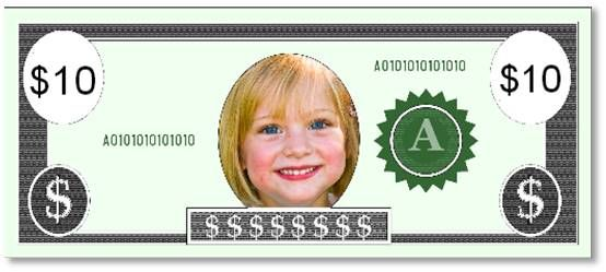 Printable Play Money Template  Play Money Incentives