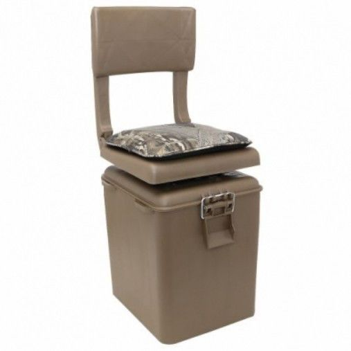 Swivel Blind Hunting Seat Mossy Oak Camo Cooler Bucket Stool