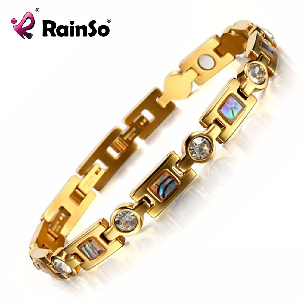 Rainso bio energy bracelet with smart buckles magnet bracelet