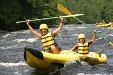 Kayak rafting with Northern Outdoors, a Maine Woods Discovery Provider: http://www.mainewoodsdiscovery.com/northern-outdoors/