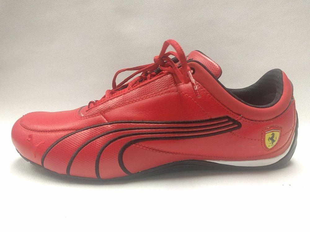 Red Puma Men  x27 s Ferrari Racing Shoes Limited Edition Italy    xd83c   xddee   xd83c   xddf9  Size US 10.5  8b9ce8819