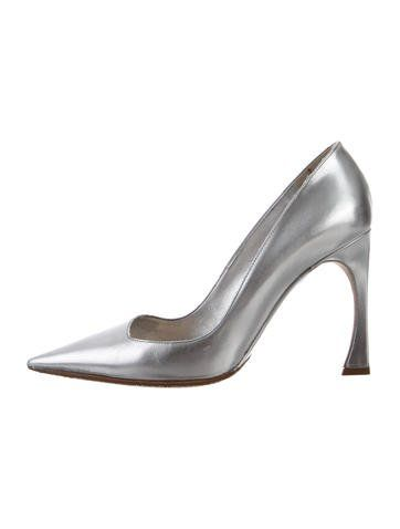 dee5ca8c27 Christian Dior Songe Metallic Pointed-Toe Pumps | Products | Pointed ...