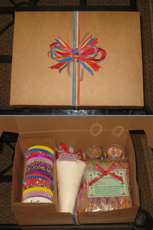 DIY cupcake decorating kit Baking kit gift, Christmas
