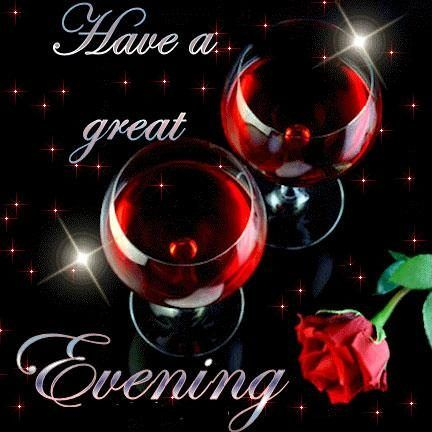Have A Great Evening With Red Rose Good Evening