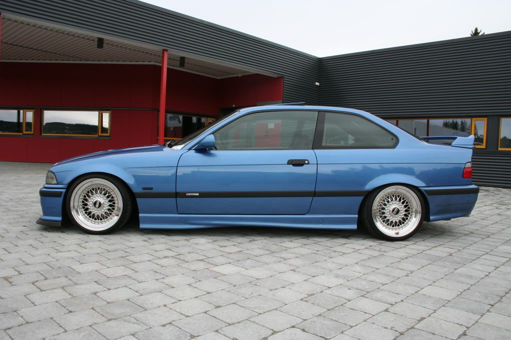 Estoril Blue Bmw E36 On 17 Bbs Rs Wheels 8 5x17 Stepped Up From