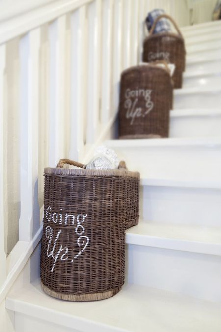 Super €99,95 Going Up Staircase basket #living #interior #rivieramaison RW-22