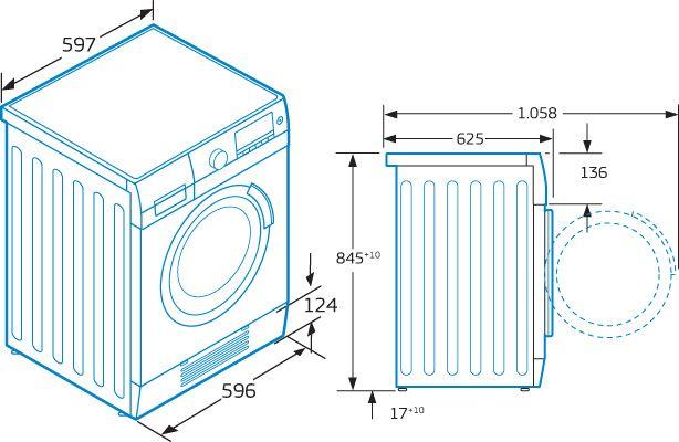 medidas de lavadoras y secadoras buscar con google