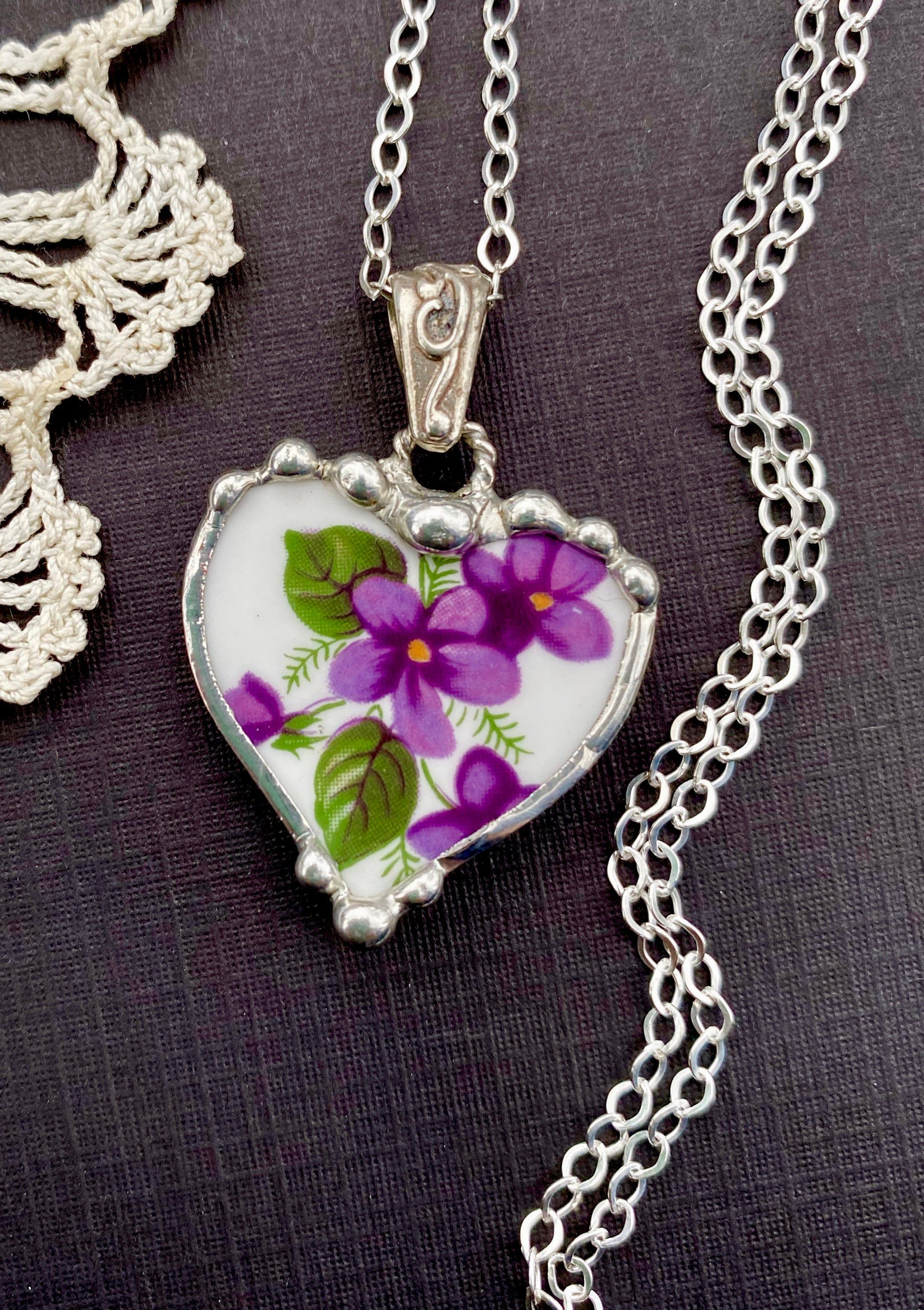 Necklace, Broken China Jewelry, Broken China Necklace