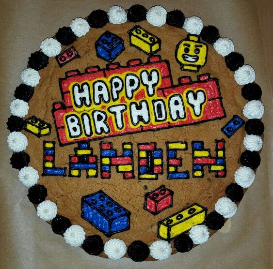 Phenomenal Lego Cookie Cake Cookie Cake Birthday Cookie Cake Designs Funny Birthday Cards Online Sheoxdamsfinfo