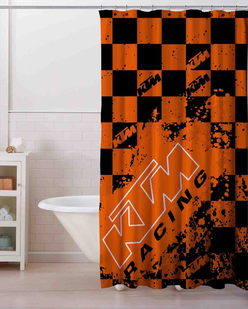 Splash KTM Logo Custom Shower Curtain 60x 72 Print On Limited Unbranded