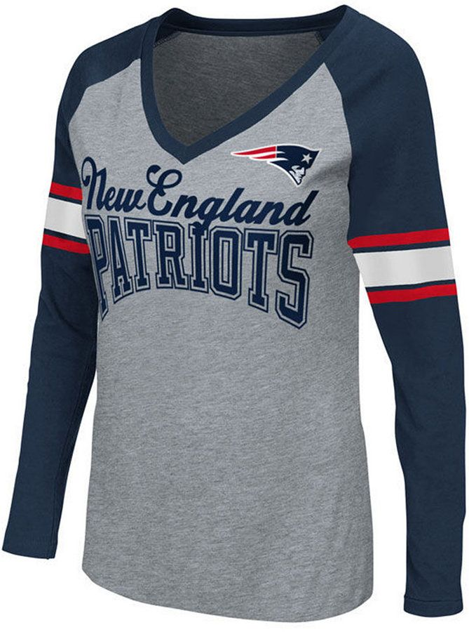 G-iii Sports Women s New England Patriots In the Zone Long Sleeve T-Shirt f9a24fde1