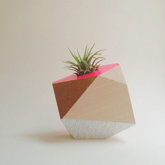 Hey, I found this really awesome Etsy listing at https://www.etsy.com/listing/178170084/geometric-neon-pink-gold-handpainted