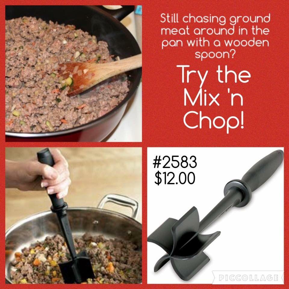 Chop Chop Kitchen: Pampered Chef Mix 'n Chop Www.pamperedchef.biz/madams314