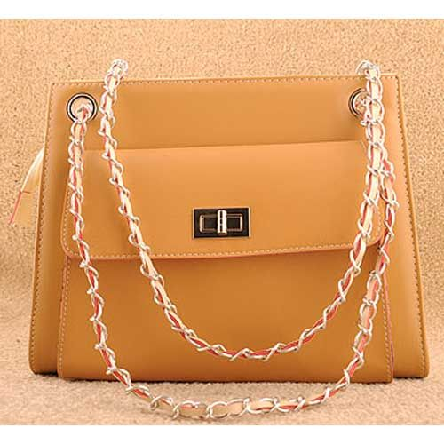 The Office Lady Style Women S Fashion Orange Satchel Handbag